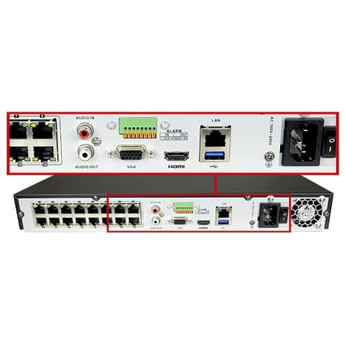 Hikvision NVR recorder 32 ch (16x PoE)