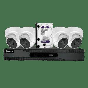Compleet camerasysteem voor thuis met 4 dome camera's en recorder