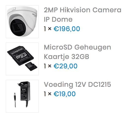 2 Megapixel Hikvision camera IP dome *aanbieding*